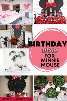 Celebrate your birthday with a some adorable Minnie Mouse ideas! Minnie Mouse Party Theme: 10 Stylish Minnie Mouse Parties. Does your little sweetheart love Minnie Mouse? Is a Minnie Mouse party theme right up your alley? There is nothing quite like a Minnie Mouse Party. We have some Mouska-tasic Minnie Mouse parties to share. #minniemouse #disney #holiday #party #parties #partyideas #mickeymouse #girl #kids #birthday #craft #diy Minnie Mouse Clubhouse, Minnie Mouse Theme Party, Minnie Mouse Party Decorations, 1st Birthday Party Decorations, Minnie Mouse 1st Birthday, Fun Party Themes, Mickey Mouse Parties, Birthday Party Treats, 1st Birthday Party For Girls