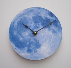 Hey, I found this really awesome Etsy listing at https://www.etsy.com/listing/165284620/blue-moon-clock