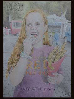 Leanne K. #Redhead #Ginger #Drawing #Pencil #Portrait #Art #Freckles www.rds-art.weebly.com