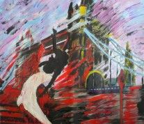 It all started with a photo taken in London, near the Tower Bridge. The size of the printed photo is of 90 x 100 cm. Sketch 2, Tower Bridge, Prints, Painting, Art, Art Background, Painting Art, Kunst, Printed