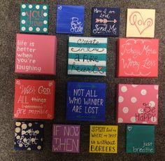 Mini canvas painting ideas. 3x3 and 4x4 mini canvases. DIY mini canvas painting #canvas #painting