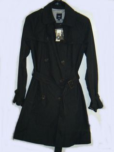 NEW GAP Womens Size Medium Gray belted Trench Coat Jacket Multi Weather NWT #GAP #Trench #fashion