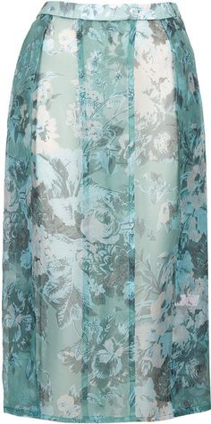 Topshop Blue Silk Organza Kilt by Boutique, made in Britain