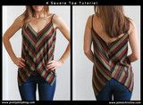 Tutorials - Jamie Christina - Easy 4 square top. (I would use a 7 in V)