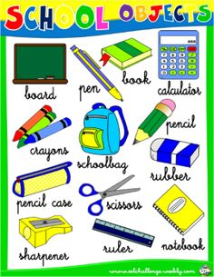 SCHOOL OBJECTS PICTURE DICTIONARY #