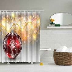 Waterproof Shiny Pearl Printed Shower Curtain Bathroom Decor (COLORMIX,L) in Bathroom Products | DressLily.com