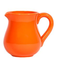 Take a look at this Orange Small Pitcher by Home Essentials and Beyond on #zulily today!