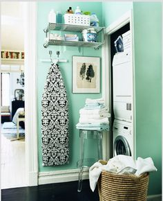 Small laundry room - I like the color!