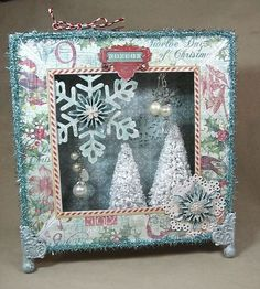 12 Days of Christmas 8x8 Matchbook Box tutorial perfect for the holidays! #graphic45 #tutorials