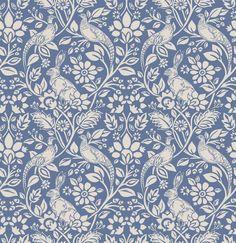 William Morris Designs Merton Abbey Moss Print from Loome Fabrics William Morris Wallpaper, Morris Wallpapers, Indigo Prints, Tapestry Fabric, Painting Wallpaper, Blue Art, Wall Art Designs, Pattern Wallpaper, Wallpaper Designs