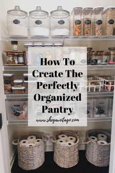 """Our pantry went from chaotic and not functioning well for our family to one that is clutter free, pretty, and perfectly functional. This transformation has now ignited my desire to tackle other """"eye sores"""" and poorly organized spaces down the road because of the difference it makes in our day-to-day life. I am going to take you step-by-step on how to do this in your own home! #kiychenorganize #diykitchenorganization"""