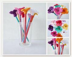 Free Crochet Pattern: Pencil Flowers