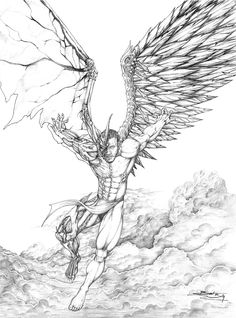 Dark Angel Drawings Sketch Coloring Page Tattoo Drawings, Cool Drawings, Drawing Sketches, Body Art Tattoos, Pencil Drawings, Sleeve Tattoos, Evil Tattoos, Dark Angels, Angels And Demons