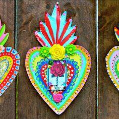 Make a Mexican tin heart for Dia de los Muertos (Day of the Dead()