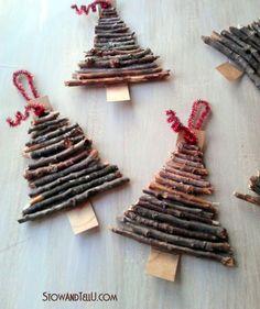 DIY Rustic Twig Ornaments