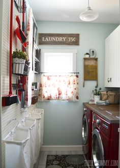 A husband and wife redo their laundry room. The result? NOT what you'd expect for $150!