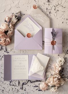 46 Cozy Backyard Wedding Decor Ideas For Summer For the perfect summer wedding, be sure to have all Lavender Wedding Theme, Lavender Wedding Invitations, Bespoke Wedding Invitations, Elegant Wedding Invitations, Wedding Invitation Cards, Wedding Stationery, Wedding Cards, Purple Invitations, Wedding Card Design