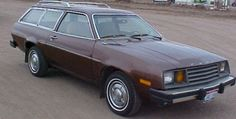 My 1980 Pinto Station Wagon. Our wagon when I was a kid was more of a tannish color.  Many a fine time on family trips in the back of that wagon singing crazy songs with my brother.