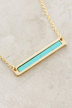 Turquoise Sea Bar Necklace - #anthroregistry