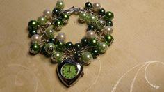 Green Ribbon Awareness Watch Charm bracelet $15.99