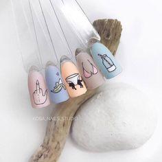 nail shapes for fat hands Rings Creative Nail Designs, Diy Nail Designs, Creative Nails, Love Nails, Pretty Nails, Diy Nails, Manicure, Special Nails, Nail Studio