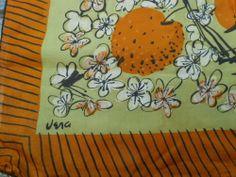 RARE Large Vintage Vera Peach Blossom Scarf