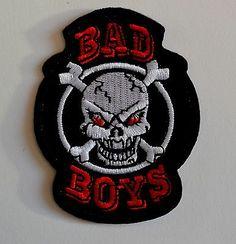 Skull Bad Boy Iron On Patch   £1.99