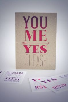 You. Me. Yes Please - flashy uitnodiging voor een sparkling trouwpartij!?!?