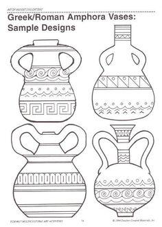 4 Efficient Tricks: Unique Vases For Wedding crystal vases etsy.Vases Centerpieces With Pictures geometric vases medium.Vases Repurpose Tin Cans. Greek Crafts, Greece Art, Rome Antique, Antique Vases, Ancient Greek Art, Greek Pottery, 6th Grade Art, Paper Vase, Vase Design
