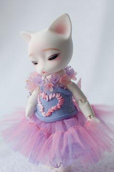 #BJD #Pipos #doll #corset #pink #lilac