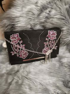 Details about Primark Black Stud Clutch Bag With Chain Shoulder Strap BNWT  New b1a1f7dab0629