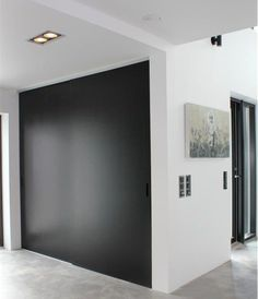 built-in cupboard with matt charcoal sliding doors. one panel to have full-length mirror, like existing cupboard. Modern Interior, Interior Styling, Interior Architecture, Sliding Door Window Treatments, Sliding Doors, Wardrobe Doors, Closet Doors, Sliding Wardrobe, Built In Cupboards