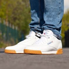 376b2790180e0 Check out th Reebok Classic Ex-O-Fit Clean Sneaker in white with a Gum Sole!