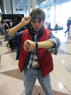 Marty McFly | 25 DIY Halloween Costumes Guaranteed To Keep You Warm. Oh my! I would totally dress like Marty haha, I don't care I'm a girl...