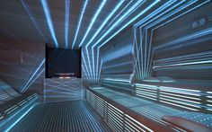 Love the lighting in this spa sauna. Professional Sauna by Starpool Sauna Design, Home Gym Design, House Design, Sauna Steam Room, Sauna Room, Sauna House, Steam Bath, Saunas, Sauna Lights