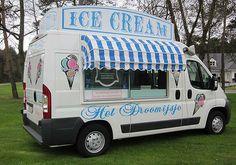 Beautiful ice cream cars for sale. Ice Cream Car, Milk Ice Cream, Snow Cone Stand, Snow Cones, Ice Truck, Ice Car, Ice Cream Companies, Mobile Catering, Vintage Ice Cream