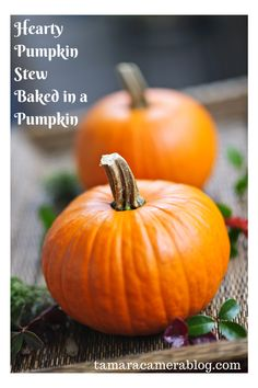 Hearty Pumpkin Stew Baked in a Pumpkin!