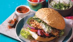 Spicy Durban chicken prego roll with tomato salsa and raita