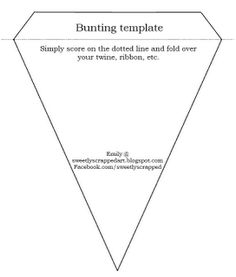 Printable Bunting Template {Printable Templates} This free printable template can be used to make a pennant garland for any and all of your parties. Fabric Crafts, Sewing Crafts, Sewing Projects, Paper Crafts, Diy Banner, Pennant Banners, Bunting Garland, Garlands, Buntings