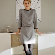 Ich zeige euch heute mein neues Sweat-Kleid, welches ich seit der Fertigstellung ständig trage. Genäht nach dem Schnittmuster Else von Schn...