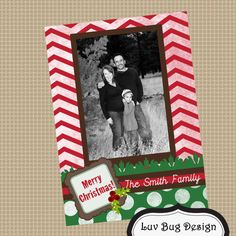 Rustic Classic Christmas Holiday Card