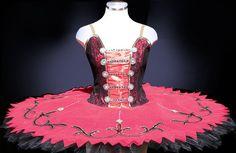 Ballet Tutu - Classic Red Spanish Style Professional Ballet tutu