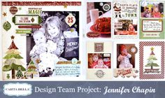A Double-Page Christmas Layout with Jennifer Chapin