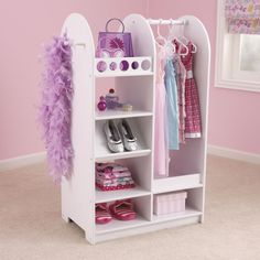35 Trendy Kids Clothes Storage Solutions Dress Up Dress Up Clothes Storage, Dress Clothes, Girl Room, Girls Bedroom, Bedrooms, Clothes Storage Solutions, Dress Up Stations, Kids Dress Up, Play Dress