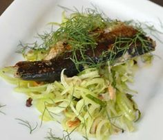 Mint-Stuffed Pan Fried Sardines with Fennel and Currant Salad by Becky Selengut, author of Good Fish http://www.cuesa.org/recipe/mint-stuffed-pan-fried-sardines-fennel-and-currant-salad