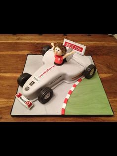 24 Edible cake toppers decorations cute mixed racing car driver rally formula 1