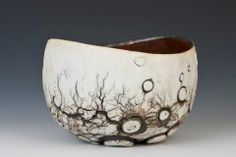 "Cup with lunar surface, 100mm/4"" tall-James Whiting Ceramics"