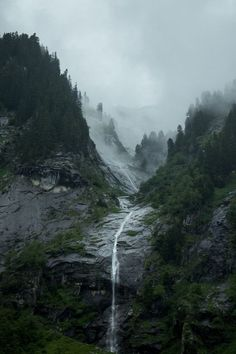 Waterfall mountains
