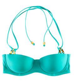 ZsaZsa Bellagio – Like No Other: Aqua Please Turquoise Fashion, Swimsuit Tops, Bikini Tops, H And M Bikini, Bleu Pale, Shades Of Teal, Polka Dot Bikini, Tiffany Blue, Colors