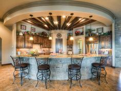 Wow. Is this kitchen amazing or what? I would even cook from scratch if I had this fabulous workspace:) Well maybe:)